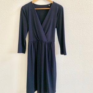 T Tahari Faux Wrap Dress Navy Sz S